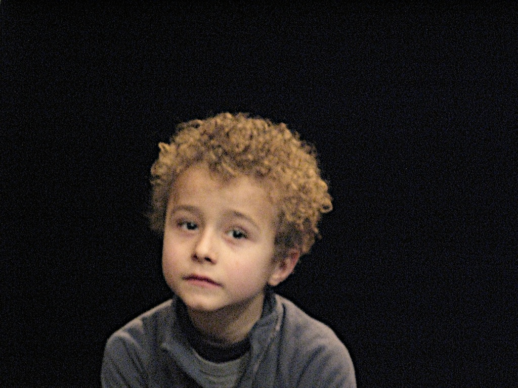 Fotografía de uno de los niños